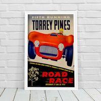 Plakaty, Plakat vintage Plakat vintage Grand Prix Plakat Czwarty bieg Torrey Pines Road Race