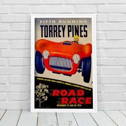 Plakat vintage Plakat vintage Grand Prix Plakat Czwarty bieg Torrey Pines Road Race