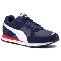 Męskie obuwie sportowe, Sneakersy PUMA - Vista 369365 02 Peacoat/Puma White/Red