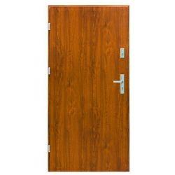 Drzwi zewnętrzne stalowe Splendoor Bazalt 90 lewe złoty dąb