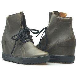 Sneakersy Eksbut 75-3975-065/0ST Brązowe lico