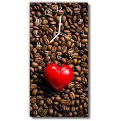 Zegar Szklany Pionowy Kuchnia Serce ziarna kawy kolorowy