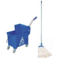 Wiadro na kółkach do mycia podłóg z mopem sznurkowym Wiaderko na kółkach do sprzątania, Wózek do sprzątania