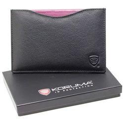 ✅ Bezpieczne Skórzane Etui Okładka na Paszport Biometryczny Czarny RFID