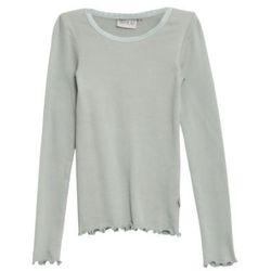 WHEAT Rib Bluzka Lace LS slategrey