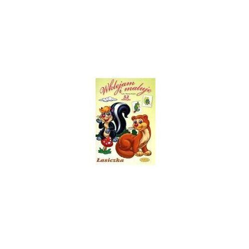 Książki dla dzieci, Wklejam i maluję - łasiczka (opr. miękka)