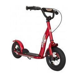 """Hulajnoga dla dzieci, pompowane koła 10"""" BikeStar, kolor czerwony"""
