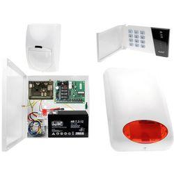System alarmowy z GSM: Płyta główna CA-4 VP + Manipulator CA-4 VKLED + 1x Czujnik ruchu + Moduł GSM + Akcesoria