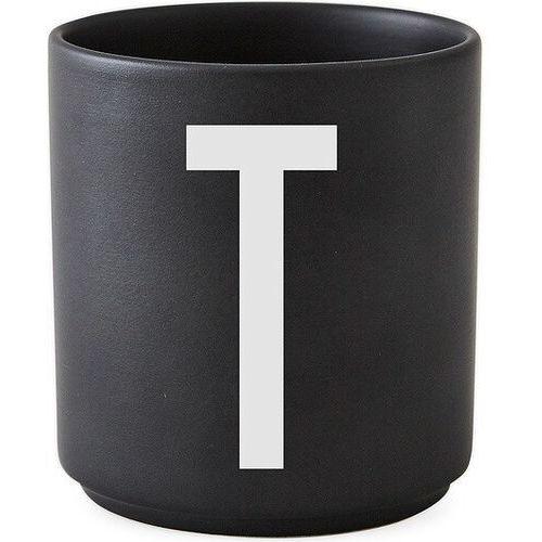 Kubki, Kubek porcelanowy AJ czarny litera T