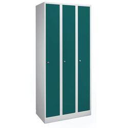 Szafa na garderobę w komfortowym rozmiarze,3 przedziały, szer. przedziału 400 mm