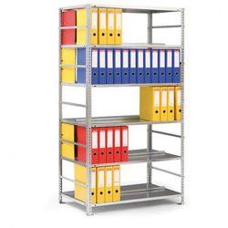 Regał na segregatory COMPACT, szary, 7 półek, 2200x1000x600 mm, podstawowy