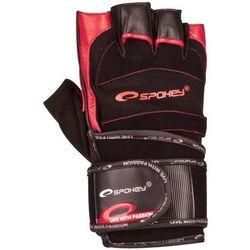 Rękawice fitness SPOKEY Miton (rozmiar L) Czarno-czerwony