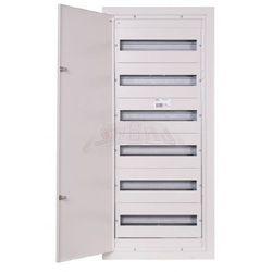 Rozdzielnica modułowa 6x18 podtynkowa 108 modułów IP31 415x1015x127 Biała z zamkiem RPSM 108 Z 6X18