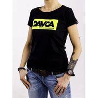 Pozostałe akcesoria do motocykli, Davca t-shirt codzienny black fluo logo