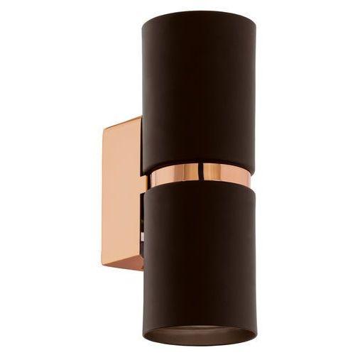 Lampy ścienne, Kinkiet Eglo Passa 95371 lampa ścienna oprawa 2x4W GU10 brąz/miedź LED