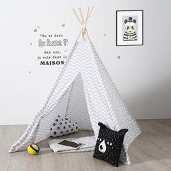 Namiot dla dzieci, INDIAŃSKI, TIPI, 120 x 120 x 160 cm, szary