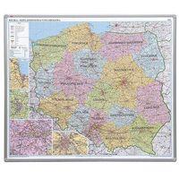Mapy i atlasy dla dzieci, tablica mapa Polski administracyjna magnetyczna