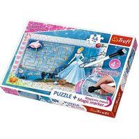 Puzzle, Puzzle + magický fix Princezny - hledání střevíčku/Disney 54 dílků v krabici 33x23x4cm