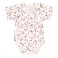 Body niemowlęce, Niemowlęce body KOPERTOWE krótki rękaw Koala Różowy