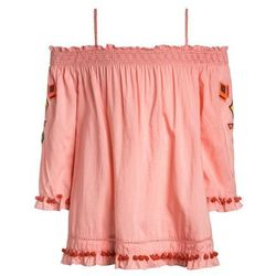 Scotch R'Belle OFF THE SHOULDER WITH COLOURFUL EMBROIDERIES Bluzka flamingo