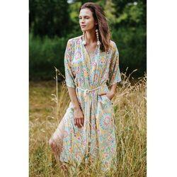 Długa sukienko-narzutka z tkaniny 8K38CH Oferta ważna tylko do 2023-07-30
