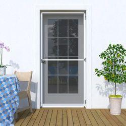 Moskitiera drzwiowa, Na zawiasach 120x220 cm, Gotowa, biała