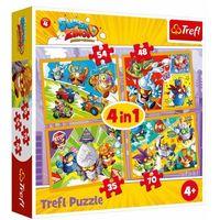 Puzzle, Puzzle 4w1 Super Zings bohaterowie serii 4 + 2-gi zestwa 10% TANIEJ!!