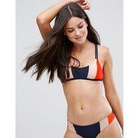 Stroje kąpielowe, Y.A.S Colour Block Stripe Bikini Top - Red