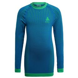 ODLO CREW NECK EVOLUTION WARM Podkoszulki mykonos blue/classic green
