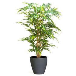 Sztuczne drzewko bambusowe z donicą, 1500 mm, czarny