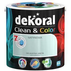 Satynowa farba lateksowa Dekoral Clean&Color delikatna mięta 2 5 l