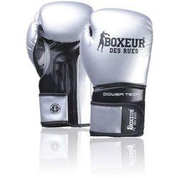 Rękawice bokserskie BOXEUR BXT-5195 Srebrno-czarny (14 oz)