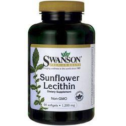Lecytyna słonecznikowa bez GMO Sunflower Lecithin Non-GMO 1200mg 90 kapsułek SWANSON