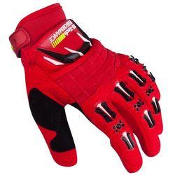 Motocyklowe rękawice W-TEC Kader antypoślizgowe, Czerwony, XL