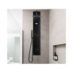 Kolumna prysznicowa z hydromasażem JUBIDA – kolor czarny – 20 × 130 cm