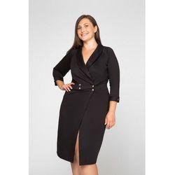 BRUNA BLACK minimalistyczna sukienka plus size