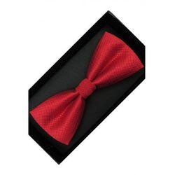 Elegancka Mucha Muszka Męska gotowa czerwona w delikatną kratkę tradycyjna M232