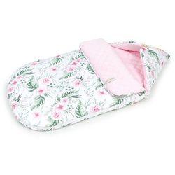 """Śpiworek do wózka gondoli fotelika LETNI 0-12 miesięcy """"S"""" - Różany ogród / jasny róż"""