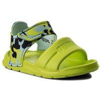 Sandały dziecięce, Sandały PUMA - Wild Sandal Injex Camo Inf 365082 01 Peacoat/Limepunch