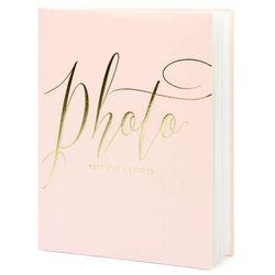 """Album na zdjęcia """"Precious Moments"""", PartyDeco, 20 x 24,5 cm, pudrowy róż, 22 kartki"""