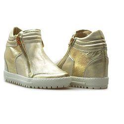 Sneakersy Eksbut 66-4008-672/F16-1G Złote lico