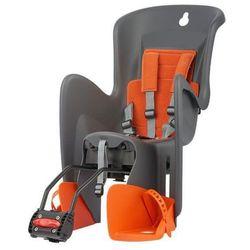 POLISPORT fotelik rowerowy Bilby RS, szary/pomarańczowy