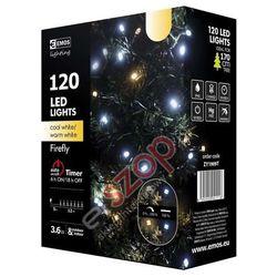 Lampki choinkowe 120 LED świetliki 12m IP44 CW/WW, timer ZY1909T