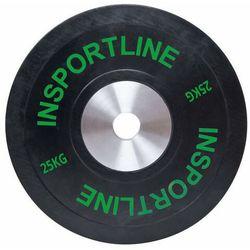 Obciążenie gumowane inSPORTline płyta 25 kg