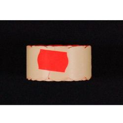 Rolka do metkownicy dwurzędowej - 2,6x1,6cm czerwona falista