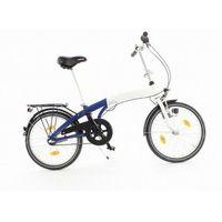 Pozostałe rowery, Aluminiowy rower składany SKŁADAK 3- biegi SHIMANO z bagażnikiem kolor biało-granatowy