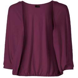 Bolerko shirtowe bonprix jeżynowy