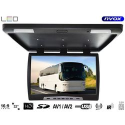 "NVOX RF2289U BL Monitor podwieszany podsufitowy LCD 22"" cale LED USB SD IR FM"