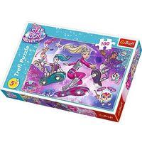 Puzzle, Puzzle 100 elementów. Galaktyczna przygoda Barbie