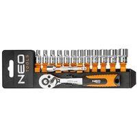Zestawy narzędzi ręcznych, Zestaw kluczy nasadowych NEO 1/4 cala 08-652 (14 elementów) + DARMOWY TRANSPORT!